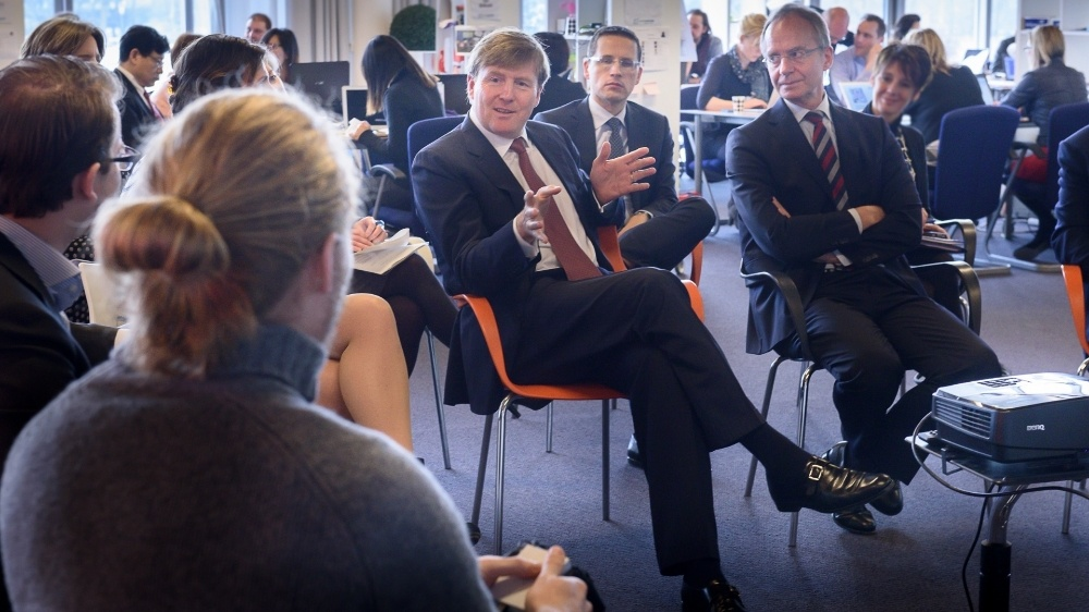 His Majesty King Willem-Alexander visited the Campus for Startupbootcamp HighTechXL on Tuesday, 3 February 2015, accompanied by Minister Kamp of Economic Affairs.