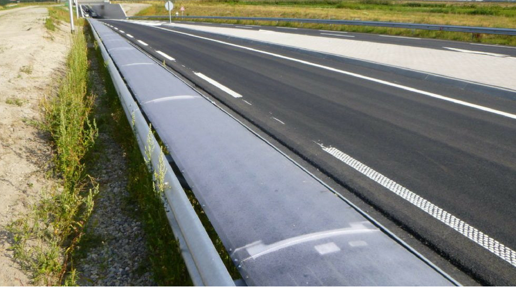 Solliance is testing 72 meters of flexible solar cells in crash barrier