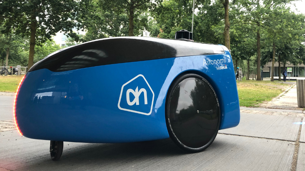 Autonomous delivery robot drives groceries to employees at High Tech Campus Eindhoven