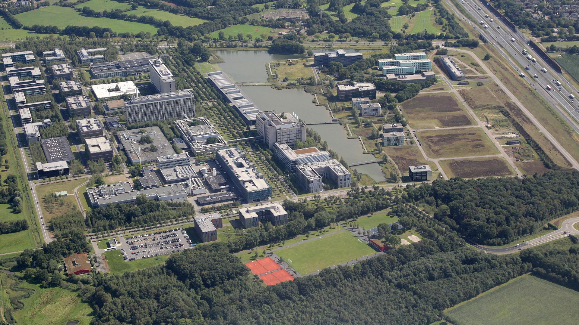 High Tech Campus Eindhoven aerial view