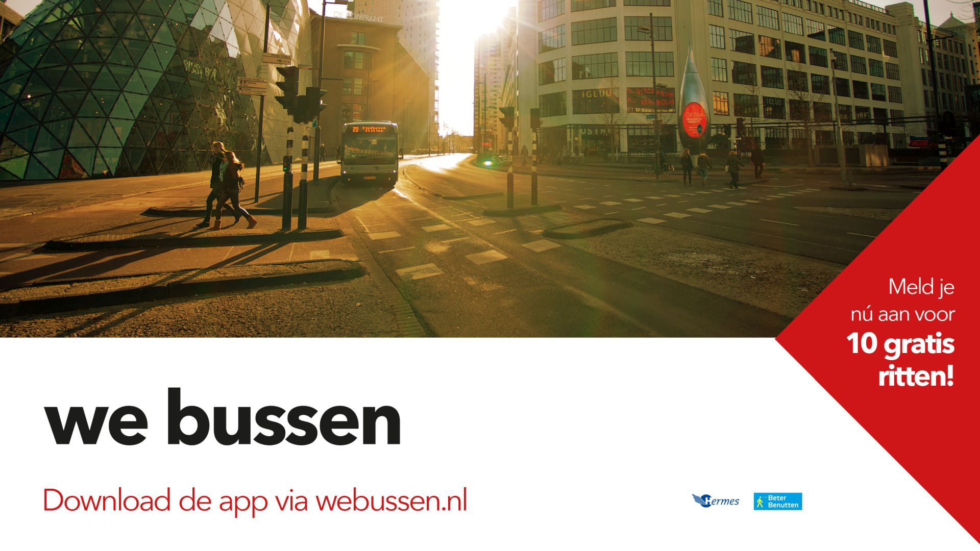 Catch a bus! 10 x free trial with the We-Bussen app
