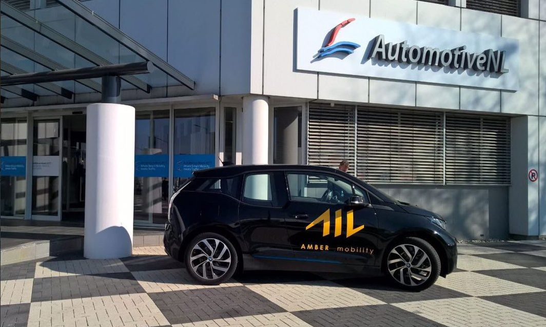 Amber Mobility shows its first electric BMW to share on High Tech Campus!